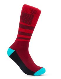 Undialed Red and Blue Socks